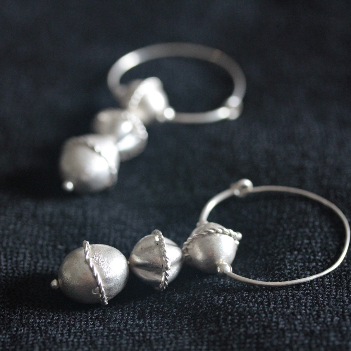 Ancient Slavonic inspired silver earrings (E0114)